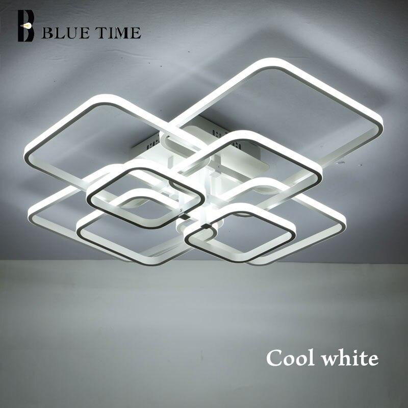 Neue Platz Ringe Rahmen Moderne Led-deckenleuchten Für Wohnzimmer Schlafzimmer Weiß Oder Schwarz Arme Decke Leuchten AC85-260V