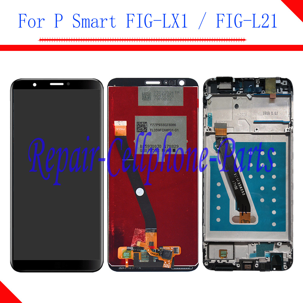 Original For Huawei P Smart Full LCD display + Touch screen digitizer assembly +Frame Cover For Huawei P Smart FIG-LX1 / FIG-L21Original For Huawei P Smart Full LCD display + Touch screen digitizer assembly +Frame Cover For Huawei P Smart FIG-LX1 / FIG-L21