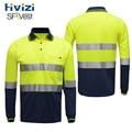 Hivizi Hi vis светоотражающая защитная Рабочая Футболка Влагоотводящая ткань с подогревом яркая серебристая Светоотражающая футболка в полоску