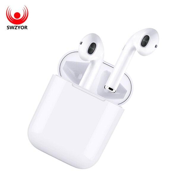 SWZYOR Nieuwe i9s air pod TWS Draadloze mini Bluetooth Oordopjes Draadloze oortelefoon oor pod met Oortelefoon case Voor Alle smartphone