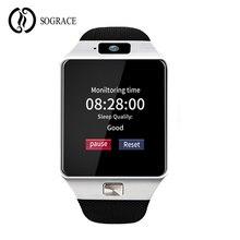 Sograce DZ09 Dispositivos Wearable Relógio Inteligente Com Câmera Do Bluetooth Relógio De Pulso Do Esporte Tf SIM Smartwatch Para Android Telefones Chamada