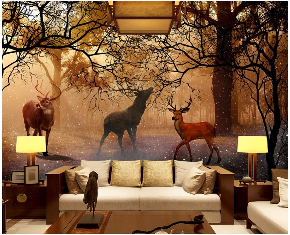 3d wallpaper custom mural non-woven The dream forest elk Landscape decoration painting 3d wall murals wallpaper for walls 3 d custom baby wallpaper snow white and the seven dwarfs bedroom for the children s room mural backdrop stereoscopic 3d
