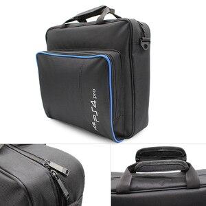 Image 3 - Handbag Multifunction Bag for PS4/PS4 PRO slim mi Original size Protect Shoulder Carry Bag Canvas Case For PlayStation 4 Consol