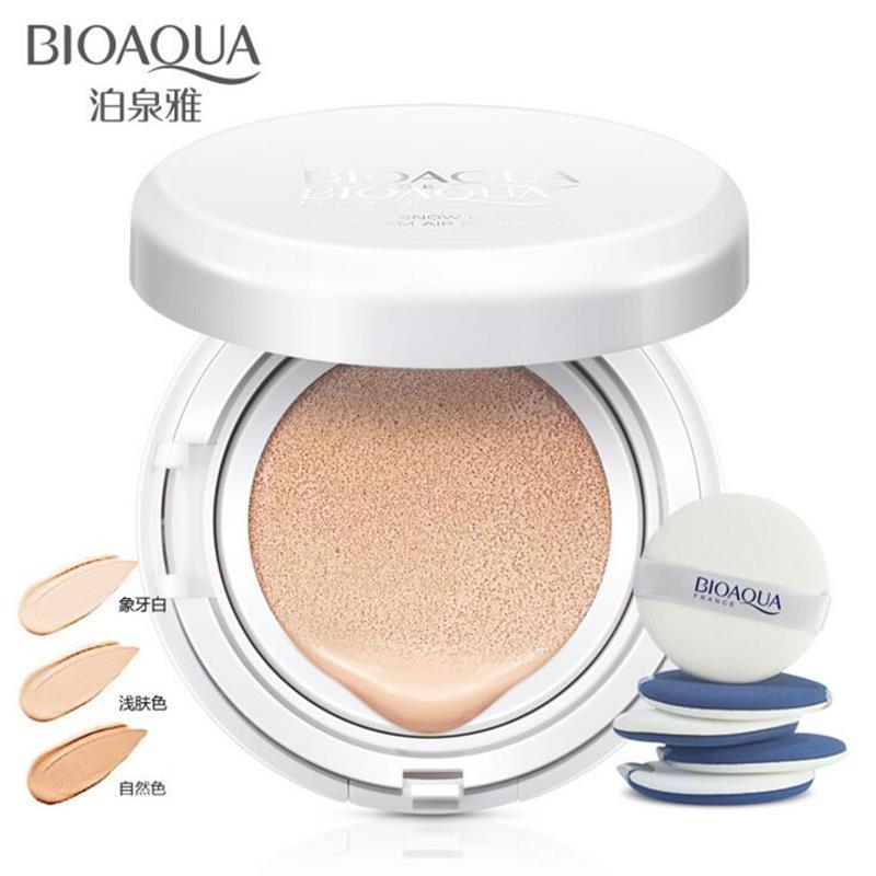 BIOAQUA Zero Flaw Air Cushion BB Cream Moisturizing Concealer Liquid Foundation Upgrade Strong Isolation Bare Makeup CC Cream