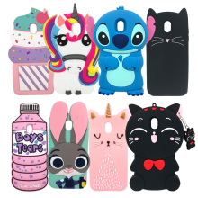 Innovation 3D Cute Cartoon Animal Unicorn Soft Silicone Phone Cases For Samsung Galaxy J3 2017 J330 J330F  EU Version Back Cover
