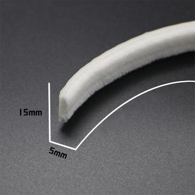 Sceaux de porte fenêtre en laine | Auto-adhésif feutré, pare-choc, brosse joints à poils, bande métallique 15x5mm 5m 10m marron blanc gris