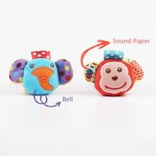 Dibujos Animados bebé juguetes 0-12 meses suave Animal sonajeros niños recién nacido felpa bebé juguete muñeca calcetines del pie del bebé