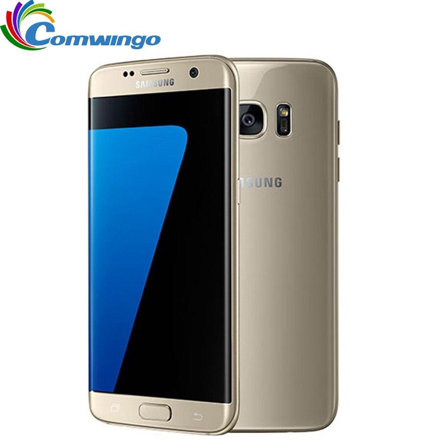 Оригинальный разблокирована samsung Galaxy S7 край G935F/G935V 4G B Оперативная память 32 ГБ Встроенная память смартфон 5,5 ''NFC WI FI 12MP 4G мобильный телефон LTE s7
