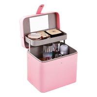 Cosmetic box large capacity handbag cosmetic case Pu lipstick liquid foundation powder skin care cosmetics desktop storage box