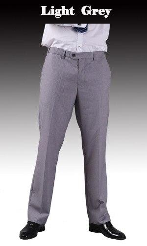 Тонкие брюки мужской формальный деловой Slim Fit Свадебный костюм брюки Diamond синий цвет красного вина черные брюки Размеры 44 плюс Размеры A37 - Цвет: Light Grey