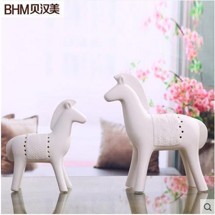 keramický kůň domácí výzdoba řemesla pokoj dekorace keramický kawaii ornament porcelán figurky zvířecí figurky dekorace