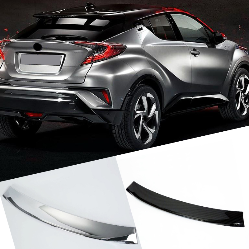 Fit for Toyota C HR CHR 2016 2017 2018 2019 abs plastic Accessories Tail Rear Wing Spoiler Decoration Trim 1pcs in Roof Racks Boxes from Automobiles Motorcycles