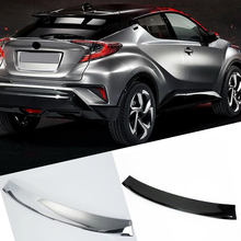 Fit  for Toyota C-HR CHR  2016 2017 2018  2019 abs plastic  Accessories Tail  Rear Wing Spoiler Decoration Trim 1pcs yimaautotrims new style for toyota c hr chr 2016 2017 2018 rear trunk spoiler tail upper bumper protector sticker cover trim