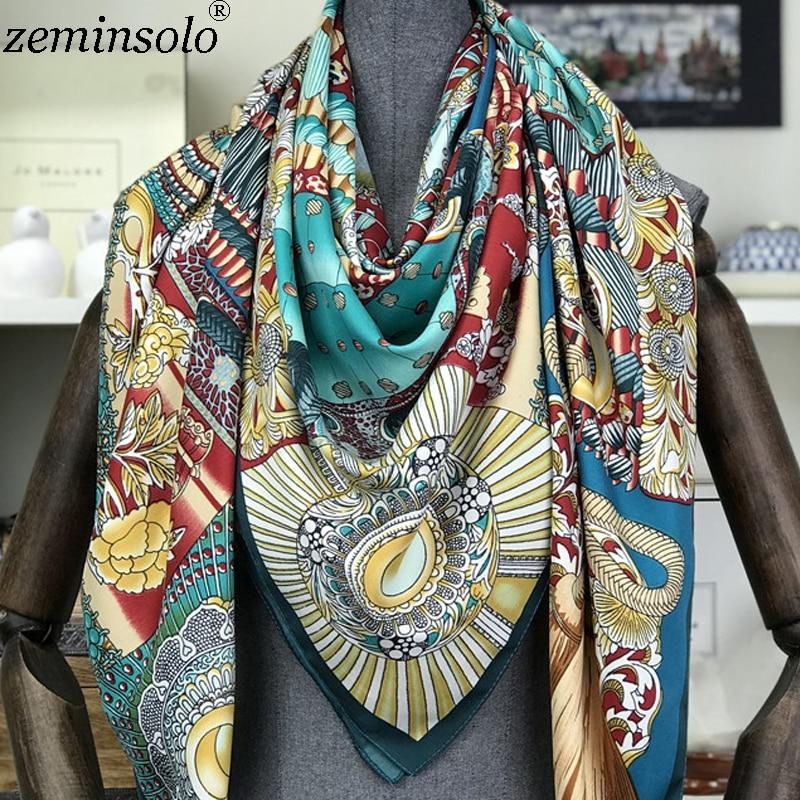 7dd689b7f3b2b Neue marke frauen silk Schal frühling sommer Schals schals wraps dame  pashmina strand stolen foulard Print