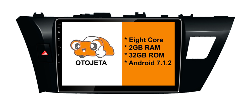 Eight Core Android 7.1.2 OTOJETA car dvd FOR toyota corolla 2014 2015 153mm tape recorder STEREO radio gps 1080p DVR/WIFI/3G/4G
