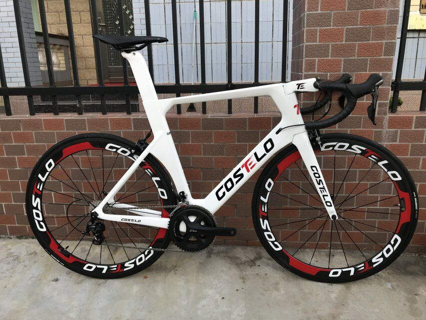 2018 Costelo AEROMACHINE MONOCOQUE una pieza carbono carretera completa bicicleta marco ruedas R8000 grupo