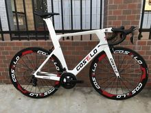 2018 Costelo AEROMACHINE MONOCOQUE one piece Carbon Road Complete Bike Road Bicycle Frame wheels R8000 Group