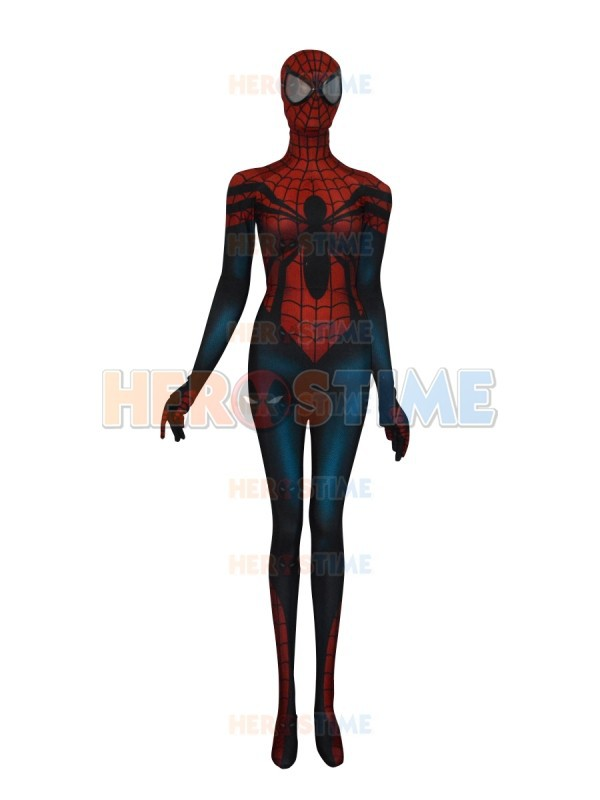 The Spider Girl Spiderman Costume Mayday Parker 3D Printed Zentai Spandex Lycra Full Body Spidey Suit