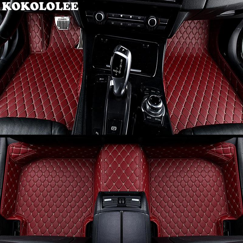 KOKOLOLEE Custom car floor mats for Audi A3 A4 A6 Q3 Q5 Q7 A1 A5 A7 S3 S5 S6 S7 S8 SQ5 A8 A8L R8 TT RS-5 RS-6 RS-7 car-styling car headrest supplies neck safety pillow for audi sline a3 a4l a4 a5 a6l a7 a8l q3 q5 q7 tt s3 s4 s5 s6 s7 interior accessories