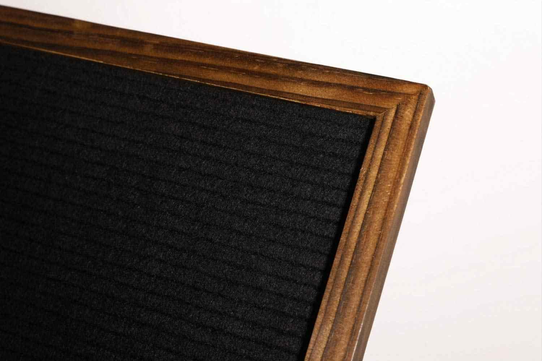 "12 ""x 16"" Rustic Distressed Felt Letter Board, เปลี่ยน 1 ""ตัวอักษรข้อความ, bulletin Memo Board สีดำปาร์ตี้ฝักบัวป้าย"