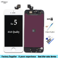 Mobymax AAA Quality LCD Screen For IPhone 5 5G LCD Screen Display Assembly Replacement With Digitizer