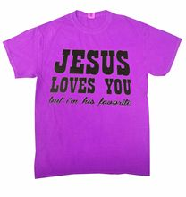 Jesus Loves You... T-Shirt NEON Assorted Colors ADULT S-3XL & KIDS XS2-4-L14-16Free shipping Tops t-shirt Fashion
