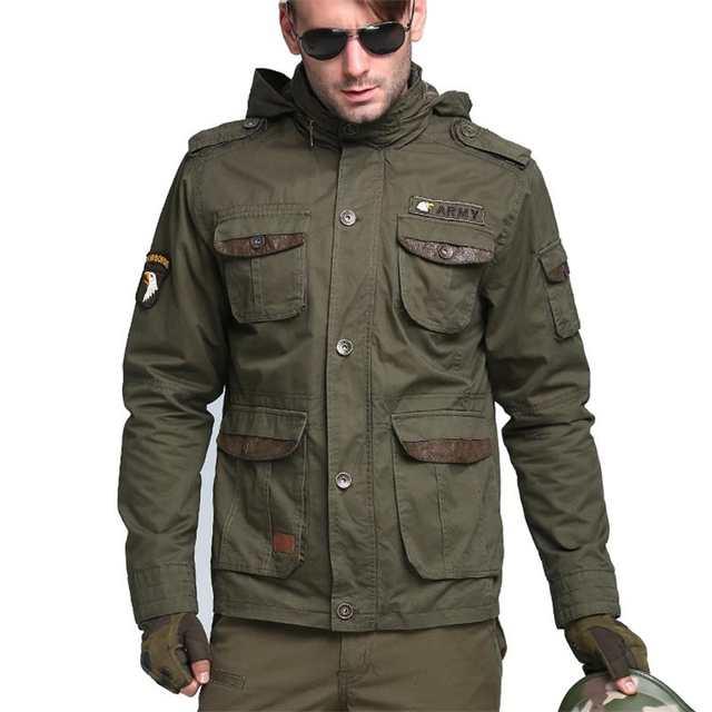 M65 Us luftwaffe Bomber Armee Taktische Jacken Männer Winter Herbst Kampf Mehrfach Mantel Hoodies Windjacken Militärjacke