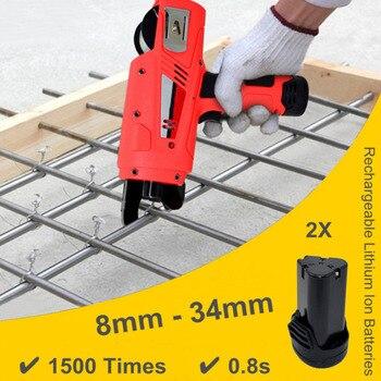 Recarregável Ferramentas de Construção de Vergalhões Máquina Automática Subordinação 8-34 milímetros w/Baterias 2