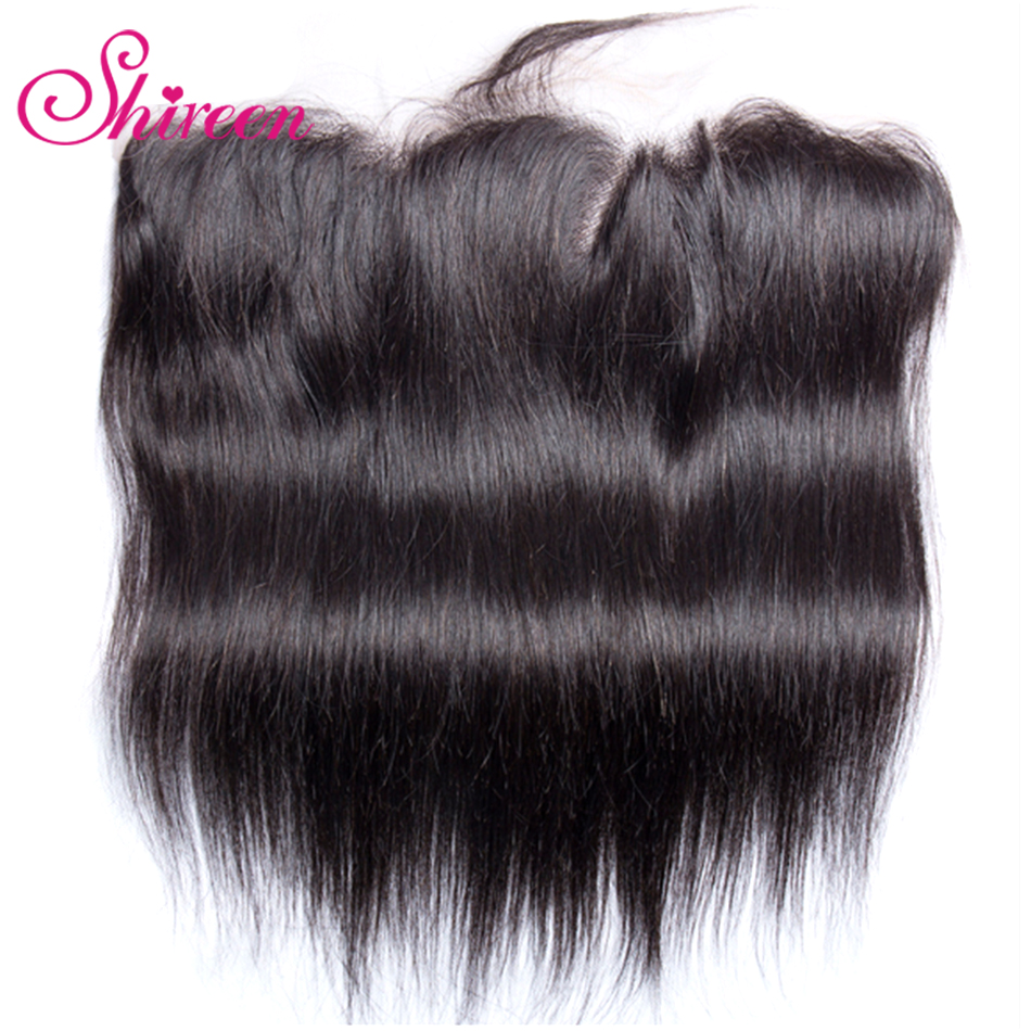 Shireen Hair Brazilian Straight  Hair Lace Frontal 13*4 Ear To Ear One Piece 10-20 Inches Remy Human Hair Closure Frontal