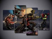 Framed Printed guardians of the galaxy Painting on canvas decoration print poster picture canvas framed Free shipping/jjk-1338