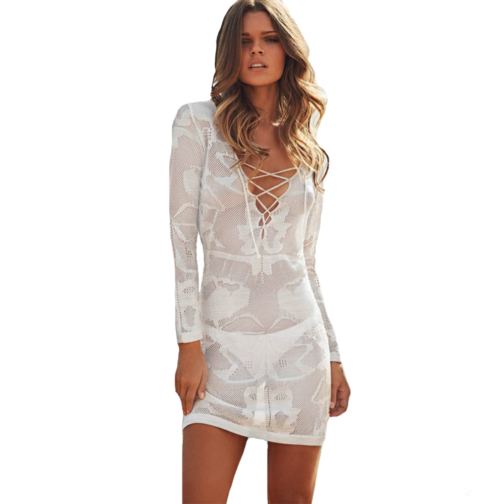 Long Sleeve Bathing Suit Cover Up
