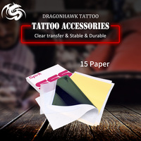 Tatuaż szablon Transfer kalka techniczna Top 15 szt. 4 rozmiar tatuaż WS011 * 15