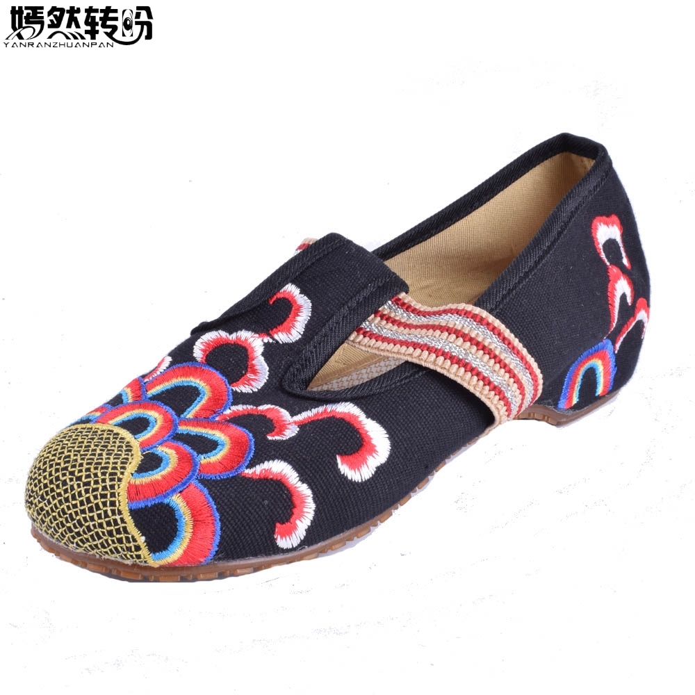 Women Flats Shoes Chinese Cloud Embroidery Slip On Canvas Vintage Retro Women Dance Ballet Shoes Driving Loafers Zapatos vintage women flats summer new soft canvas embroidery shoes casual slip on bow dance flat sandals for woman zapatos mujer