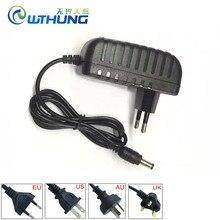 전원 공급 장치 어댑터 2 조각 가방 AC 100 240V DC 12V 2A EU 영국 AU 미국 플러그 코드 CCTV 보안 AHD IP TVI Wifi 카메라