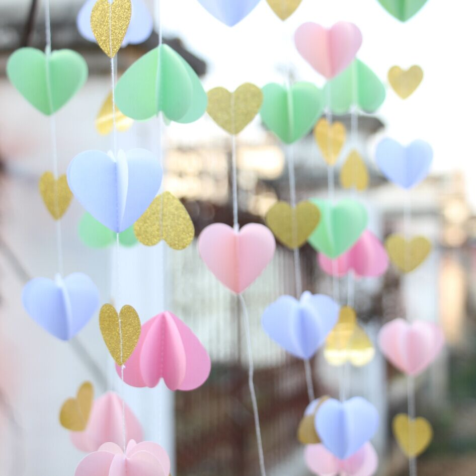 5pcs pink gold paper heart garland diy wedding curtain curtain 5pcs pink gold paper heart garland diy wedding curtain curtain backdrop wedding reception decor in party backdrops from home garden on junglespirit Gallery
