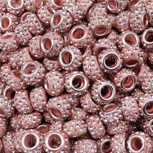 50Pcs Wholesale Lots Bulk Large Hole Glass Beads Spacer Charm fit Pandora Bracelet Chain Necklace Earrings for Jewelry Making