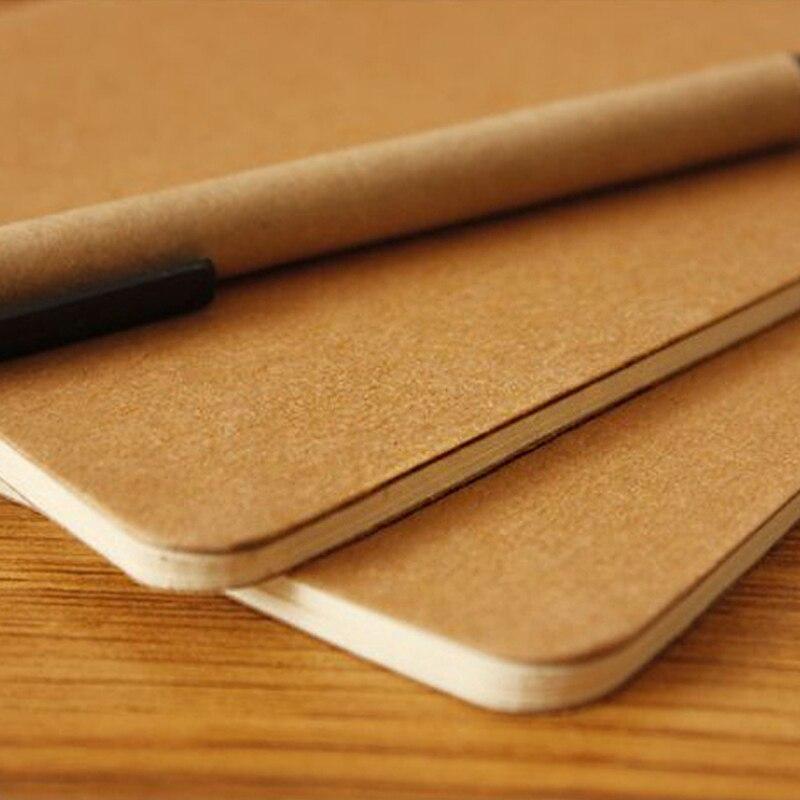10 / partii Cowhide paberi sülearvuti tühi märkmiku raamat Vintage - Kaustikud ja kontoriraamatud - Foto 5