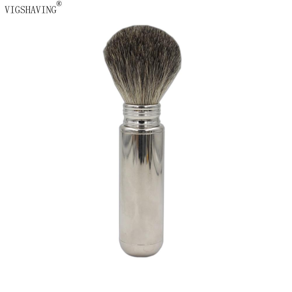 VIGSHAVING r Aluminium Men Badger Hair Travel Shaving Brush кольцо 1979 11 r