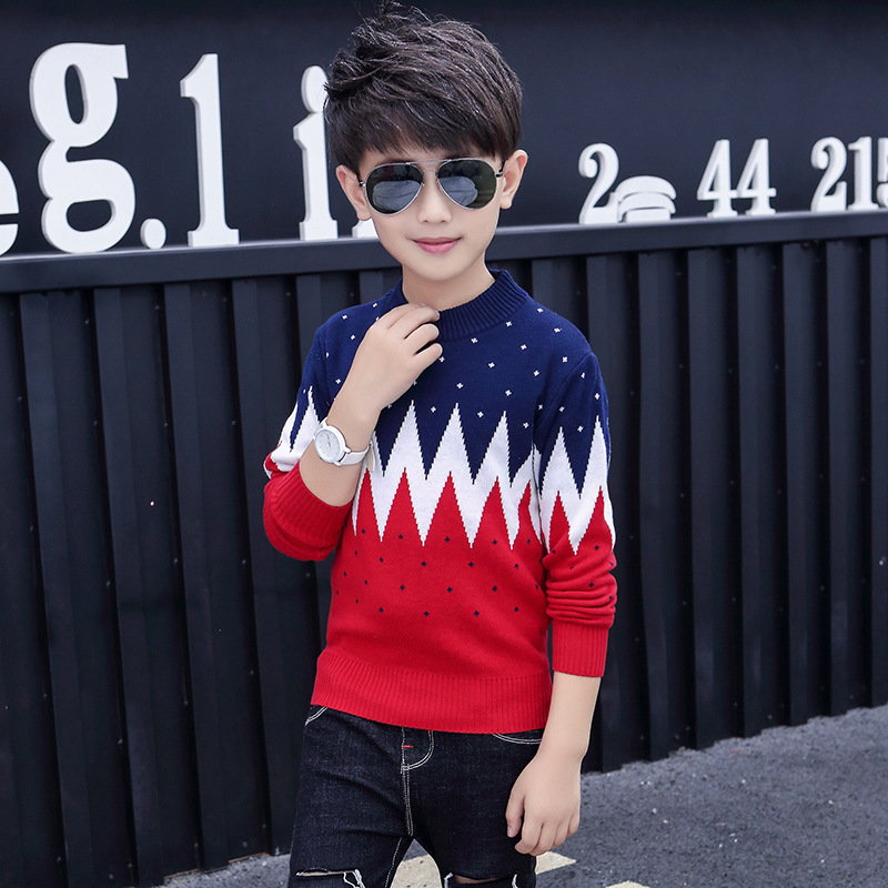 Winter Cotton products  Boys clothing O-Neck pullover Sweater winter Keep warm Kids clothes children's clothing 2