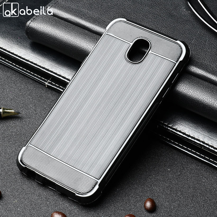 AKABEILA Phone Cases For Samsung Galaxy J5 2017 J530F J530 J5 Pro Eurasian Version 5.2 inch Brushed Wire Drawing Silicone Cover