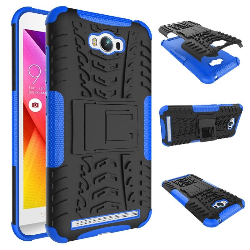 Для Asus Zenfone Max ZC550KL Case 5.5 дюймов Тяжелых Прочный ТПУ + PC Броня Противоударный Kick Стенд Крышка для Asus Zenfone Max ZC550KL