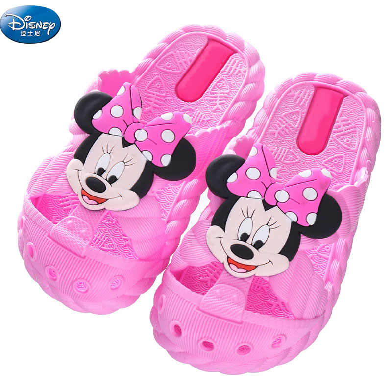 kids Mickey Mouse Minnie Cartoon slippers summer Boys and Girls Non-slip Hole  Beach shoes size 24-35