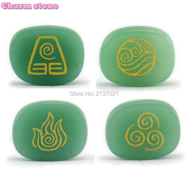 Natural Crystal Reiki Symbols Divination Stone Air Water Earth Fire
