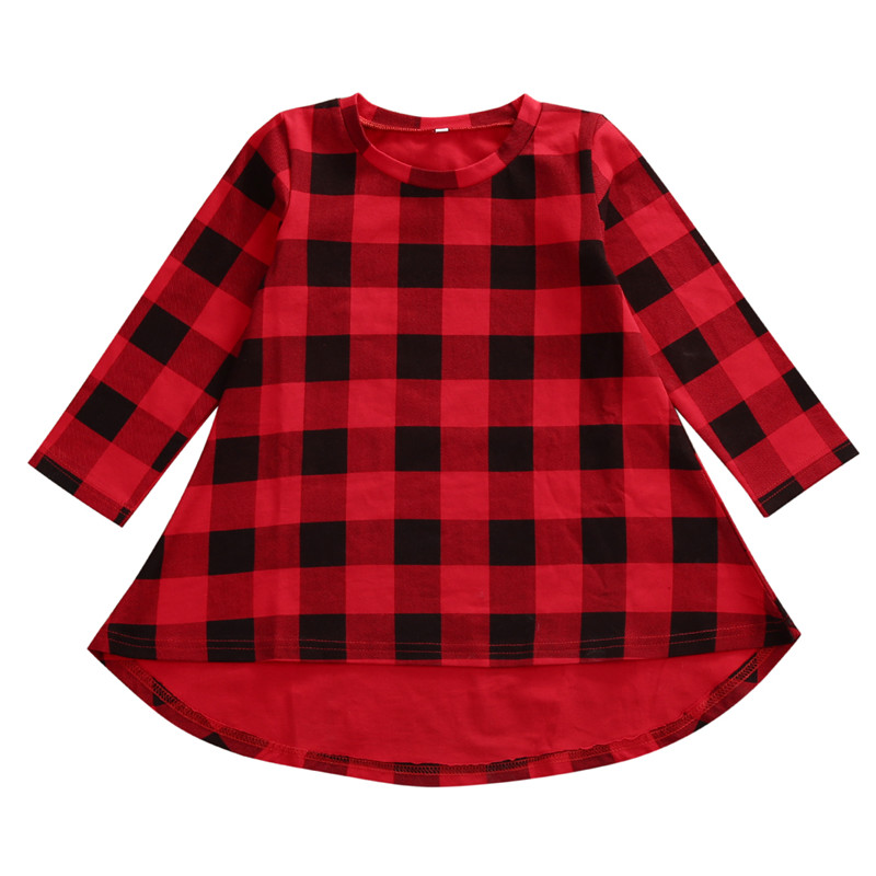 NEW Kids Newborn Baby Girls Casual Clothing Long Sleeve Tutu Red Plaids Dresses Princess Wedding Autumn Party Formal Dress 1-6T summer 2017 new girl dress baby princess dresses flower girls dresses for party and wedding kids children clothing 4 6 8 10 year