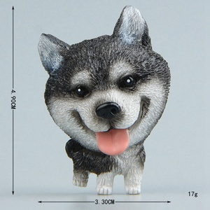 Image 5 - Pegatinas magnéticas de dibujos animados para niños, imán para nevera, Mini Bulldog Husky, para educación temprana, para nevera, 1 unidad