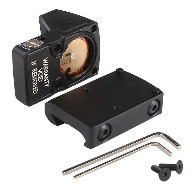 ARWIN Mini RMR Rotpunktvisier Collimator Glock//Pistole Reflex Sight Scope Fit 20mm Weber-Schiene f/ür Airsoft//Jagdgewehr