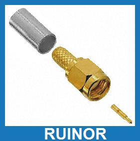 ФОТО 50pcs SMA Male Plug Connector for Cable RG58 LMR195