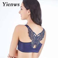 Yienws Bralette Female Push Up Bra Women Front Closure Bra Sexy Lace Lingerie Woman Bras Plus