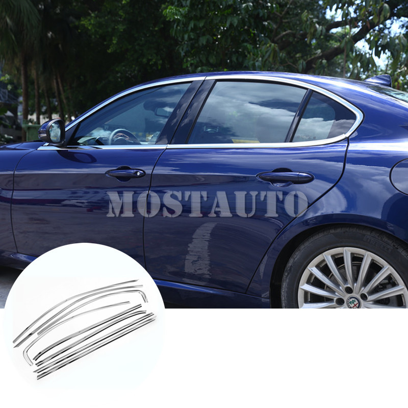 For Alfa Romeo Giulia Stainless Car Full Window Molding