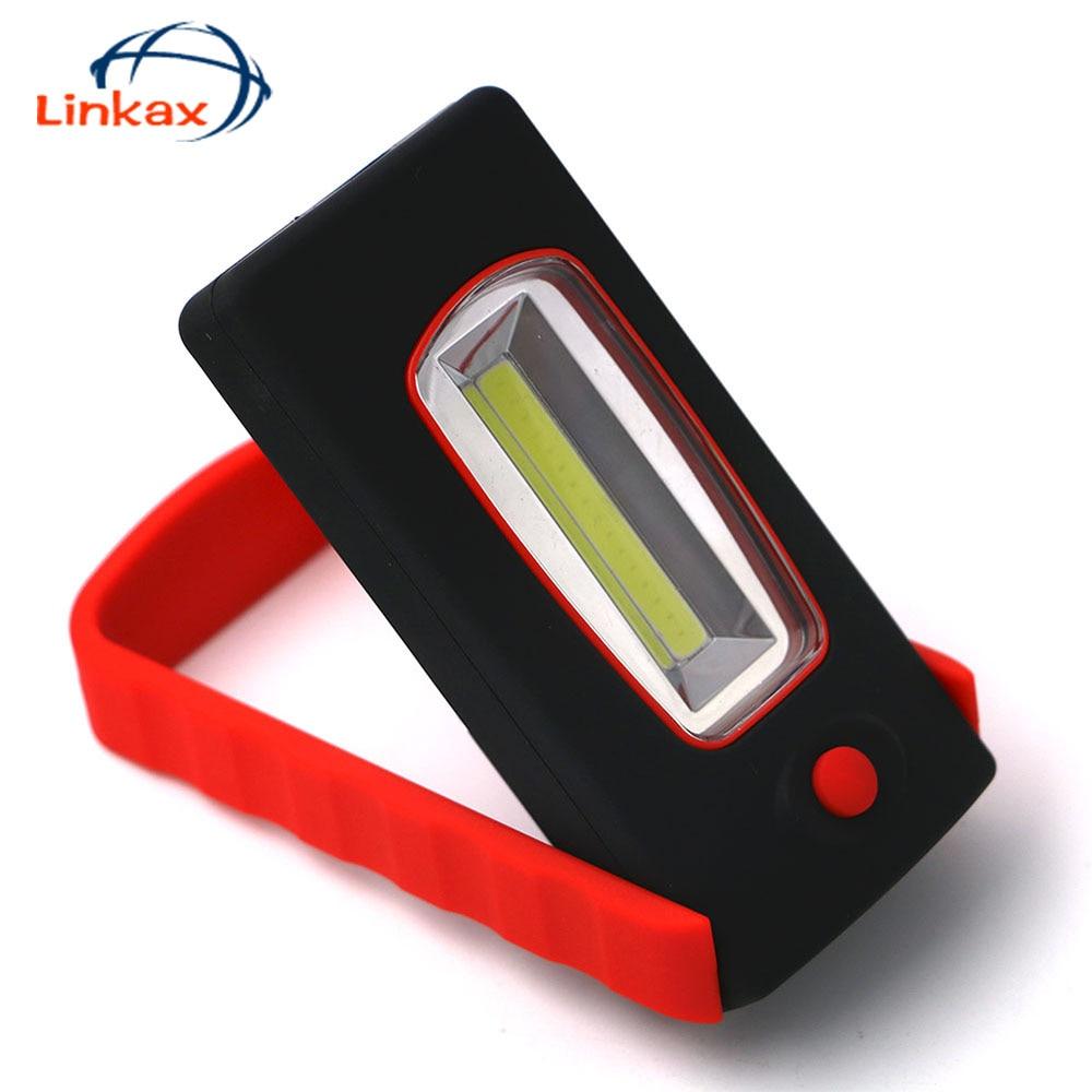 Mini LED Flashlight Torch Work Light Strong Magnetic Rotation Hook Flashlight Camping Mini COB LED Light Lamp
